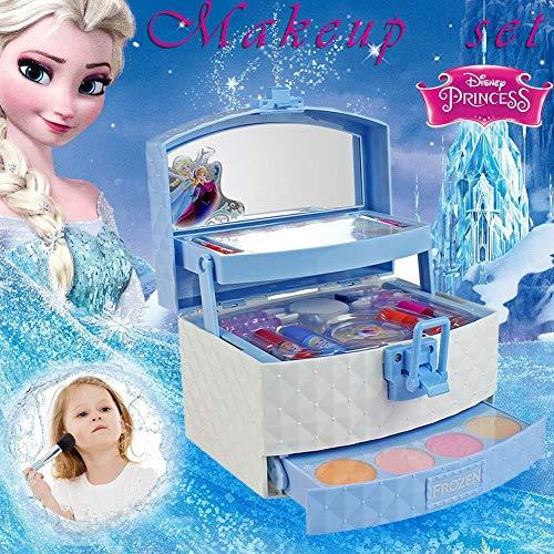 56PCS Disney Ice Princess Kinderkosmetik-Kit Schminkkoffer Koffer Schminkset Kinder Schminkkoffer...