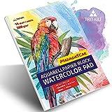 A2 Aquarell-Papier 300g / Weiß / 14 Blatt   Din A2 Aquarellblock Groß von Tritart
