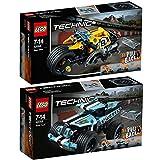 Lego Technic 2er Set 42058 42059 Stunt-Motorrad + Stunt-Truck