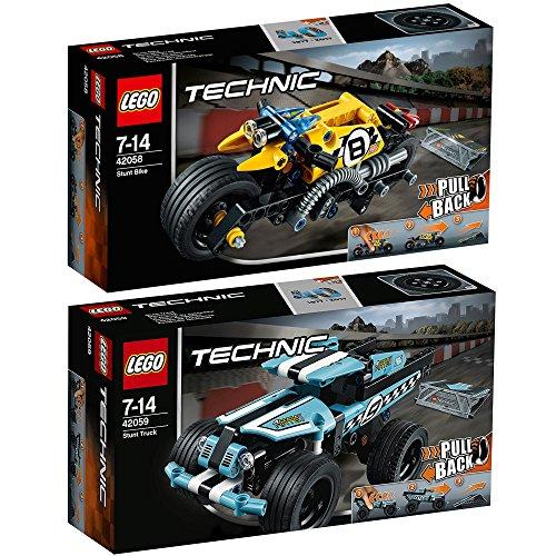 Preisvergleich Produktbild Lego Technic 2er Set 42058 42059 Stunt-Motorrad + Stunt-Truck