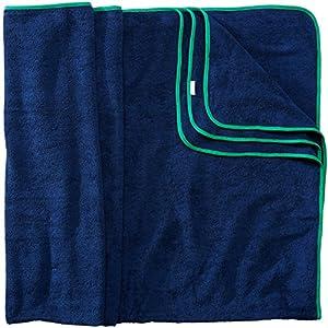 Sowel® XXL asciugamano mare, coppie asciugamo, spiaggia telo da bagno 100% spugna di cotone del panno, di formato 160 cm x 200 cm blu, grigio, blu marino, bianco