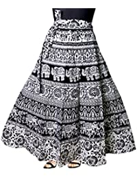 JWF Cotton Multi Colour Long Skirt For Women