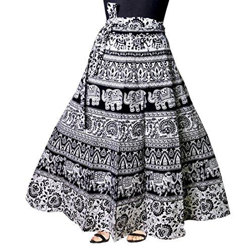 JWF Cotton multi colour long Skirt for women