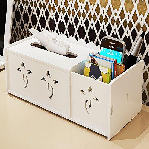 CLG-FLY tissu multifonctionnel pour boîtes boîte de rangement ménage table basse télécommande livre boîte simple serviette blanche,idées modernes