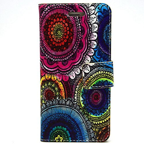 Più colorate Ancerson in pelle PU Flip Custodia Cover per Apple iPhone 6Plus 5,5pollici inch in pittura ad olio Stil Colorful Painting Flip Case Custodia in similpelle custodia per cellulare con sup fiore