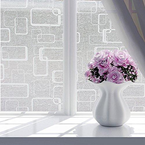 Film pour vitre, Woopower 60 x 200 cm/59,9 x 200 cm Autocollant de bain étanche en verre Autocollant Porte de rejet de la chaleur - Fleur en verre film autocollant Confidentialité Home Decor, 6#, Taille unique
