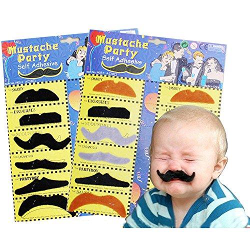 Fake Schnurrbart Party Kostüm selbstklebend Pretend Play Spielzeug und Disguise Fun (Family Kostüme Pack Fun Halloween)