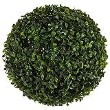 Buchsbaumkugel 22cm Buxus Kunstpflanze Dekoblume Heckenpflanze Kunststoff Deko