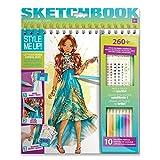 Style Me up - Mode und Design Malbuch für Mädchen - Malset mit Aufklebern und Schablonen - Stickerbuch für Mädchen- Coole Geschenke für Mädchen - SMU-1425