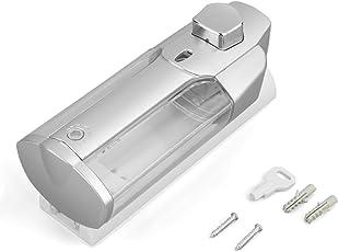 UniqueHeart Wand-Seifen-Sanitizer-Duschhandbuch-Shampoo-Zufuhr 350ml mit Verschluss-Einzelkopf für Badezimmer-Waschraum