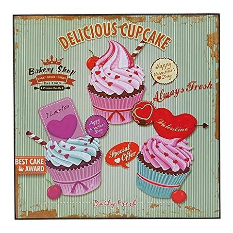 Toile Cupcake - Clayre & Eef 6H0942Tableau de décoration Toile