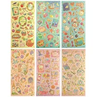 CL004-FAIRY - Clear Gold Metallic Foil Sticker - 6 Different Sheets Decorative Craft Scrapbooking Stickers Set with Fairy Tale True Love Forever Themed