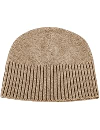 ac105f591ee Love Cashmere Ladies 100% Cashmere Ski Beanie Hat - Dark Natural - Made in  Scotland