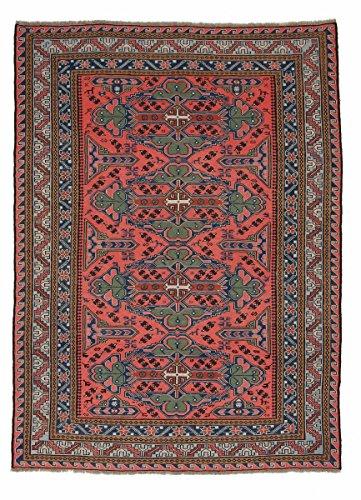 Nain Trading Kelim Soumak 244x178 Orientteppich Teppich Dunkelgrau/Rot Handgeknüpft Russland -