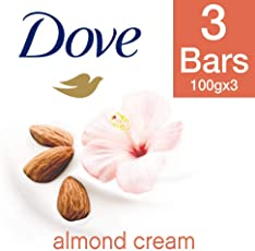 Dove Daily Shine Shampoo, 340ml with Almond Cream Beauty Bathing Bar, 100g (Pack of 3)