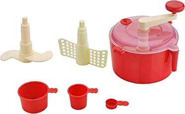 Food Processor Manual Dough Maker Red/Atta Maker by Next ON