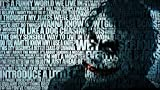 #6: BATMAN QUOTES THE JOKER TYPOGRAPHIC PORTRAIT TYPOGRAPHY WALLPAPER ON FINE ART PAPER HD QUALITY WALLPAPER POSTER