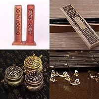 ELECTROPRIME 2Pieces Incense Holder Burner Stick Box Handmade Craft for Home Living Room