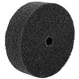 Schwarz Nylon Faser Abrasives Schleifscheibe 155mmx18mmx50mm