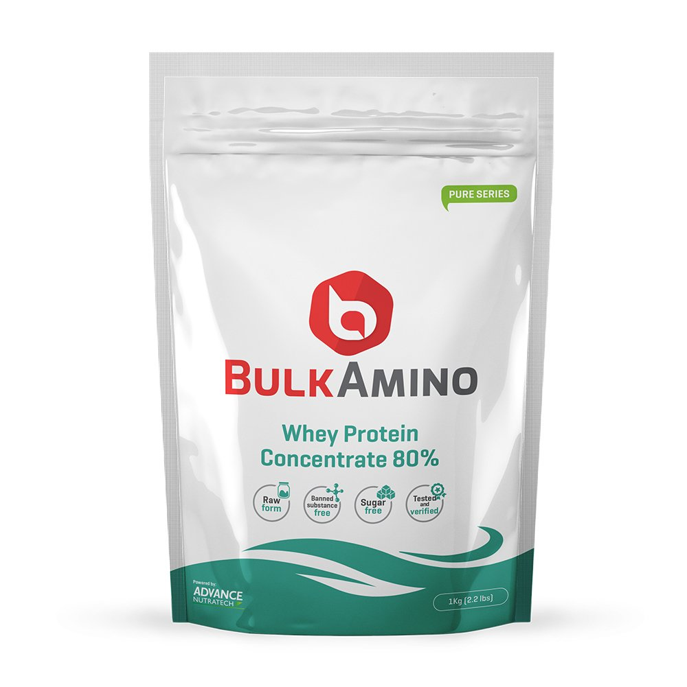Advance Nutratech Bulkamino Whey Protein Concentrate 80 % Raw Protein 2Kg(4.4Lbs)