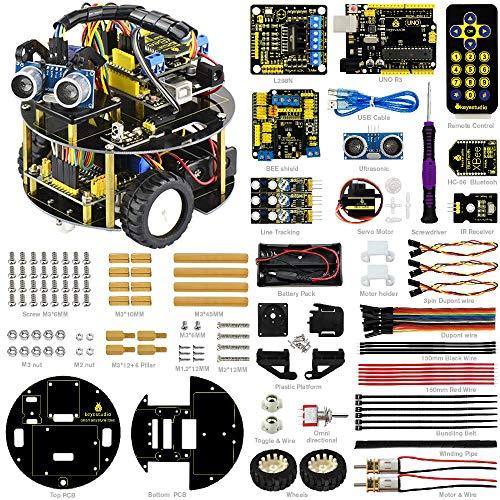 KEYESTUDIO Bluetooth Ultraschall Smart Auto Roboter Starter DIY Kit für Arduino