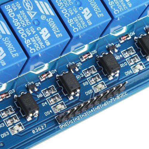 61PGiwZB48L - Kkmoon 8-CH - Placa del módulo de relé de 8 canales (5V)