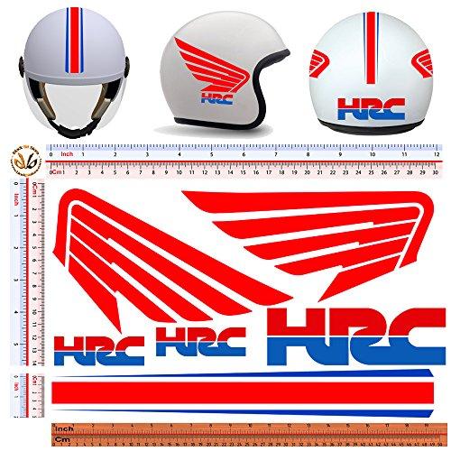 Black Bit - adesivi casco HRC sticker helmet motorcycle tuning decal print pvc 6 pz.