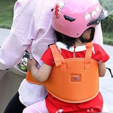 Trexee Double Buckles Adjustable Front Standing Sitting 2 Wheeler Safety Seat Belt with Night Reflectors (Multicolour)