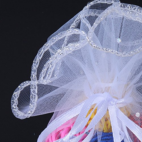 3dca60231f0f 26cm) 100 pz Sacchetti Tulle Veli Organza con Nastrino Bomboniere  Portaconfetti come Segnaposto per Matrimonio Laurea Battesimo Compleanno  Confezione ...