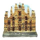 Duomo Milan Italia resina 3d fuerte imán para nevera recuerdo turista regalo chino imán hecho a mano artesanía