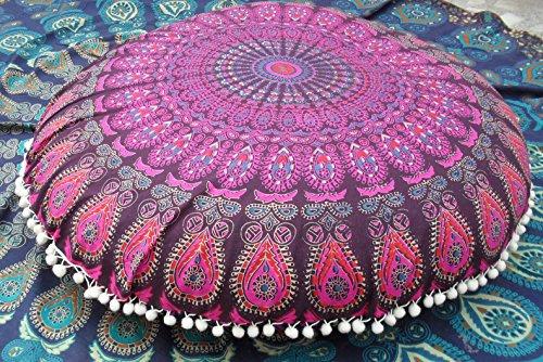 Mandala rotondo Floor cuscini, a due decorativo federe 32