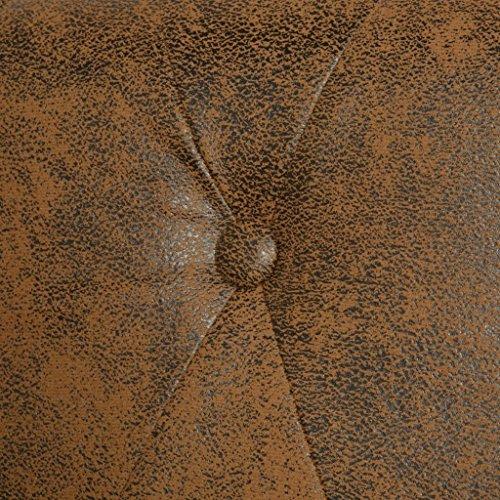 vidaXL Chesterfield Sofa 3-Sitzer Kunstleder Braun