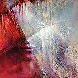 Artland Qualitätsbilder I Wandtattoo Wandsticker Wandaufkleber 40 x 40 cm Menschen Frau Malerei Rot C8MS Julia