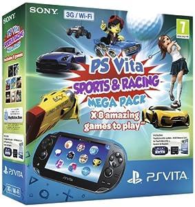 Sony PS Vita 3G Console Sports & Racing Mega Pack on 8GB Memory Card (PlayStation Vita)