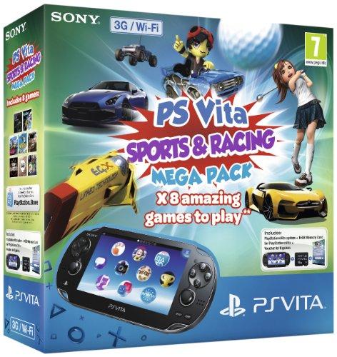 Playstation Ps vita 3g-Konsole Sport & Racing mega Pack auf 8gb speicherkarte (vita)