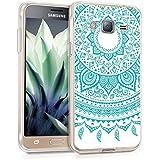 kwmobile Funda TPU de silicona para Samsung Galaxy J3 (2016) DUOS Funda protectora con diseño IMD - funda blanda para móvil Diseño sol indio