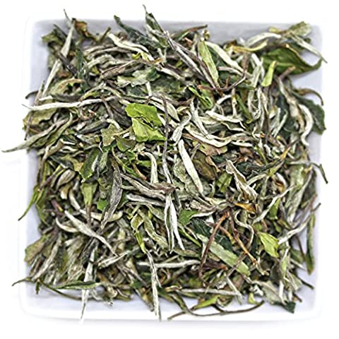 Tealyra - Imperial White Peony - Bai Mu Tan - Organically Grown - Fresh White Tea - Loose Leaf Tea - Low Caffaine - 100g