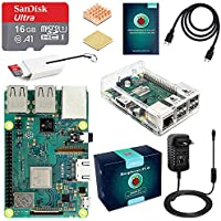 ABOX Raspberry Pi 3 Modell B Plus (B +) Ultimatives Starterkit mit 16GB Class 10 SanDisk Micro SD Karte, 3A EIN/aus-Schaltnetzteil und pellucid Case