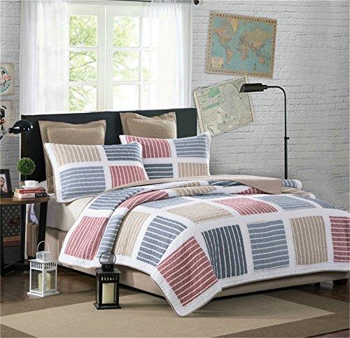 Heimtextilien Bettwäsche Luxusanzug,100% Baumwolle Handarbeit Patchwork Gesteppte Bettdecke Blatt Tröster {Large Size/Königin} (Königin Tröster Königin Set)