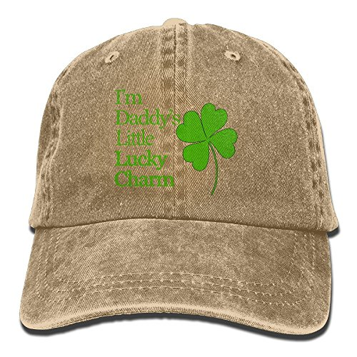 I'm Daddy's Little Lucky Charm Unisex Ajustable Baseball Cap Jeans Hats (Daddys Little Baseball)
