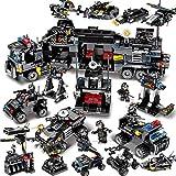 Aiya 8pcs / lot SWAT Ville Police Truck Building Blocks Ensembles Navire Créateur de Véhicule Hélicoptère Briques Playmobil Jouets pour Enfants