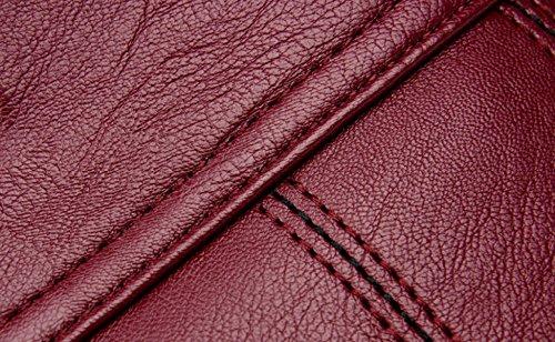 Borsa Donna ZPFME Borsa A Tracolla Collocamento Borsa A Tracolla Moda Ragazze Festa Retrò Signore Moda Borsa Borsa Messenger Borsa Da Donna Red