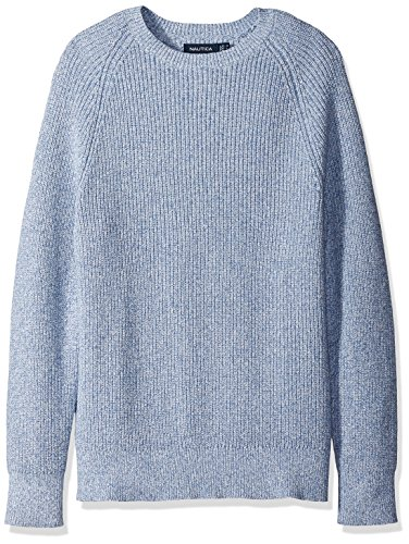 Nautica Sweater (7gg) Classic Fit, Pull Homme CHROME BLUE