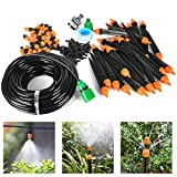 25m DIY Automatic Micro Flow Drip Watering Irrigation Kits System Self Plant Garden Hose Watering Kits for Flower Bed Patio Garden Greenhouse Plants