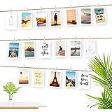 Ecooe Foto-hangende wanddecoratie, collage, visnet/fotokabel, voor creatieve en mooie decoratie, doe-het-zelf fotolijst, wand