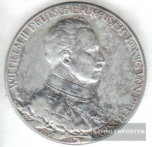 Deutsches Reich Jägernr: 111 1913 A vorzüglich Silber vorzüglich 1913 2 Mark Preussen Wilhelm II. Regieru (Münzen für Sammler)
