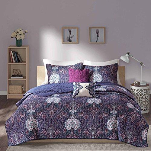 Quilt Elfenbein Twin (Giselle Decke Set, Polyester, violett, Twin/Twin XL)