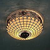 Gweat 18-Zoll-Europäischen Retro-Stil Tiffany-Buntglas Unterputz Deckenleuchte Esszimmer Licht