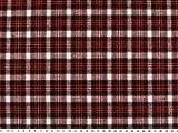 ab 1m: Gewebter Baumwoll-Flanell, kariert, rot-schwarz-weiß, 140cm breit
