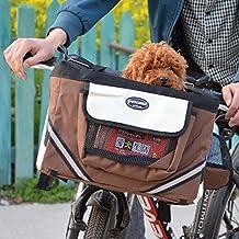 Bolso de la bicicleta del perro Bolso de Oxford de las cestas de la bici que viaja Caja de la bicicleta para el deporte al aire libre que acampa Ciclismo que el gato pequeño animal empaqueta